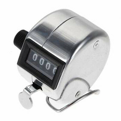 UK Manual Handheld Tally Mechanical 4 Digit Number Clicker Hand Counter Portable
