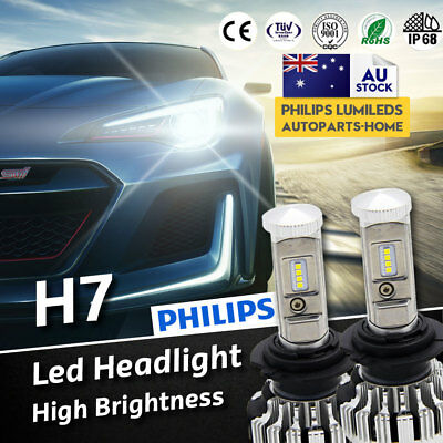 2x Upgrade H7 LED Lamp 252W 28000LM Headlight kit Bulb Globes Canbus AU Stock