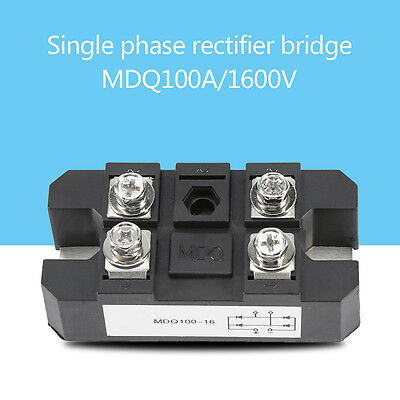 60A 100A 150A 200A 300A 400A 1600V Single-Phase Diode Bridge Rectifier Module