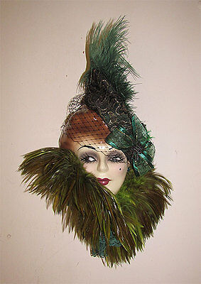 Unique Creations Art Deco Lady Face Mask Wall Hanging