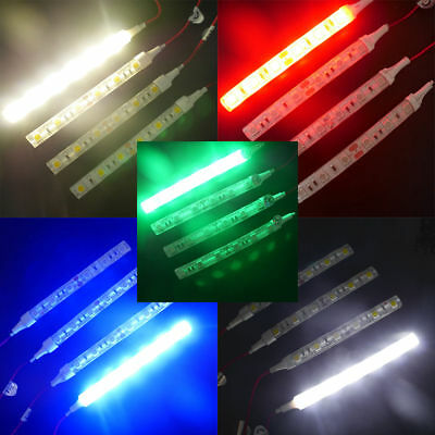 8X 5050 LED 10cm Flexible Strip Decorative Light Lamp Waterproof Car Truck Motor