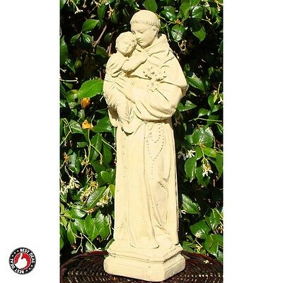 St Anthony Statue Small Garden Unique Outdoor Christian Room Decor Yard Figurine