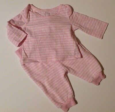 Early Days Baby Girls Pink & White Striped Long Sleeve Top & Bottoms 0-3 Months