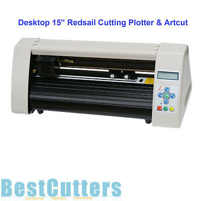 "15"" Mini Redsail Desktop Cutting Plotter Vinyl Cutter Printer RS500C W Artcut"