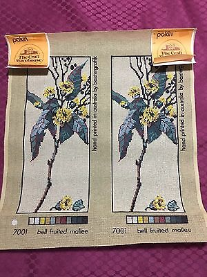 """New Baxtergrafik Printed Tapestry Canvas Set Of 2 """"bell Fruited Mallee"""" 7001"""