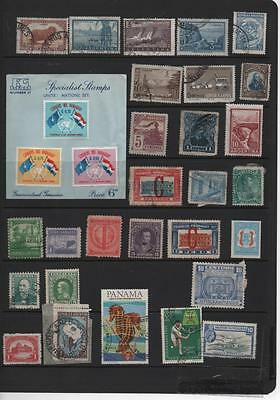 latin America stamp selection