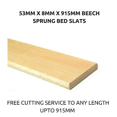 53mm Wide Replacement Curved Bent Wooden Beech Sprung Bed Slats / Slates Spares