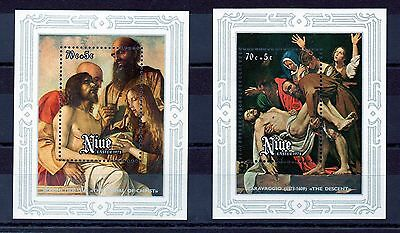 Niue 1978 Easter Paintings from Vatican Gallerous MNH set of 2 sheetlets