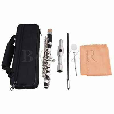 BQLZR Nickel Plated C Key Piccolo W/ Bag,Joint Grease,Cleaning Cloth and Rod