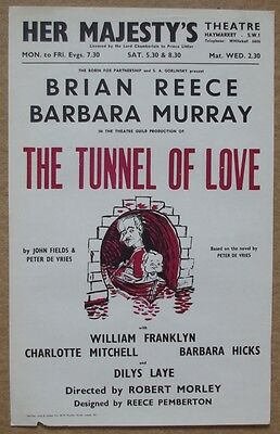 ### Original Her Majesty's Theatre Poster - The Tunnel Of Love ###