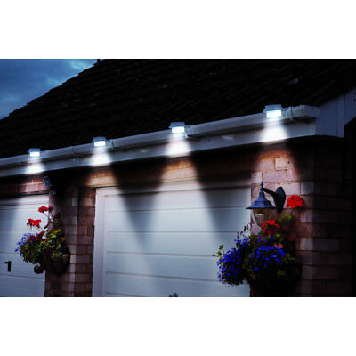 Solar Style Twin Pack Outdoor LED Security Downlights - White D6934 #10P