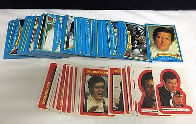 1979 Topps Moonraker James Bond Movie Card Sticker Set Complete 99/22 Superb
