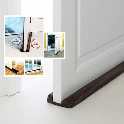 New Twin Door Draft Dodger Guard Stopper Energy Saving Protector Doorstop Hot