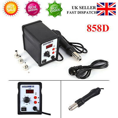 New 858D SMD Soldering Station Hot Air Gun Rework Equipment w/ Nozzle Sale Price