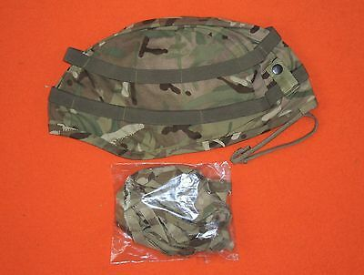 NEW BRITISH ARMY ISSUE MTP CAMO Mk7 KEVLAR HELMET COVER - SIZE SMALL / MEDIUM