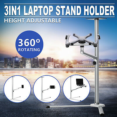 3In1 Laptop Stand Holder For Phone 360 ° Rotation Foldable Arms High Reputation