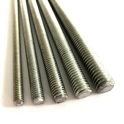 "1/4"" BSW Whitworth Threaded Bar - Rod Studding - 4.8 Mild Steel BZP Zinc Plated"