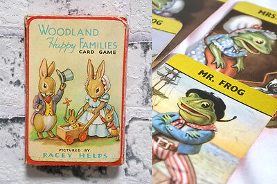 WOODLAND HAPPY FAMILIES CARD GAME Illustrated by Racey Helps VINTAGE Rare PEPYS