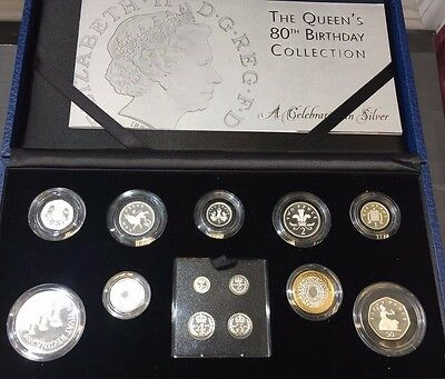 The Queen's 80th Birthday Coin Collection A Celebration in Silver