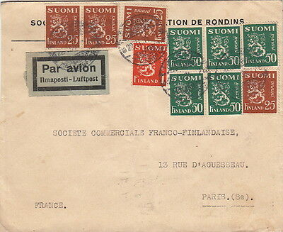 Lettre Suomi Finlande To France Cover Finland
