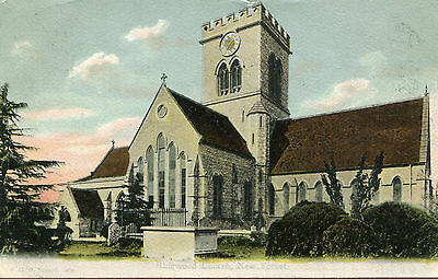 1906 postcard Ringwood Church New Forest Hampshire