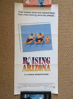 RAISING ARIZONA Original Movie Poster NICOLAS CAGE HOLLY HUNTER COEN BROTHERS