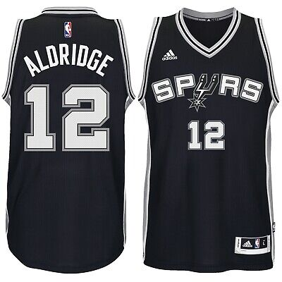 New ADIDAS NBA SWINGMAN JERSEY San Antonio Spurs #12 Aldridge 7470 304 MSRP 110