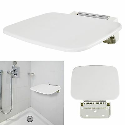 Wall Mounted Shower Stool Bathroom Seat Easy Folding Bath Chair Disability Aid