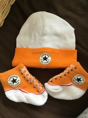 Baby Converse Hat And Socks Unisex