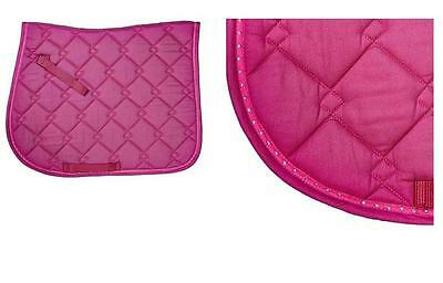 Bright Pink Diamante Elico Lansdowne Saddle Cloth Pad Numnah