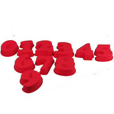 LARGE Numbers Shaped Silicone Birthday Cake Mould Kids Baking Tray Sugarcraft