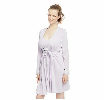 Oh Baby Maternity 2 Piece Nursing Gown & Robe Set - Size XL - NWT!