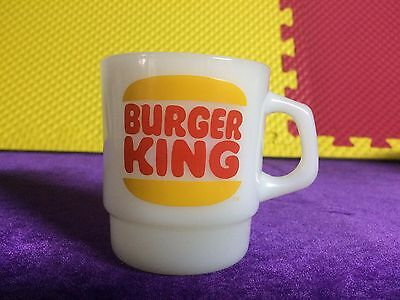 Rare Vintage Burger King Anchor Hocking Fire King Coffee Mug Cup Mint Condition