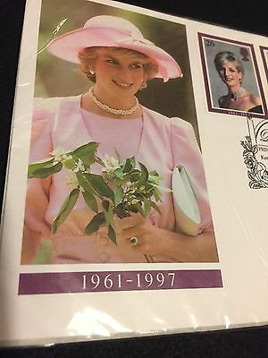 Diana Princess of Wales Kensington Palace Gardens Five Unused Stamps 1961-1997