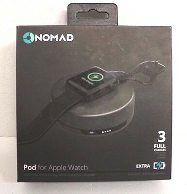 NEW Nomad Pod for Apple Watch Power Pack Space Gray pod-apple-sg-001