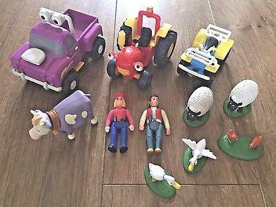 Tractor Tom Bundle Including Buzz, Rev, Tom, Fi & Farm Animals. Free Post