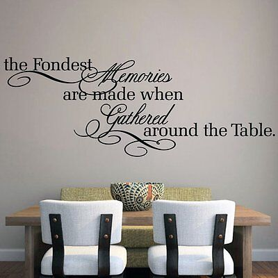 Fondest Memories Made Kitchen Dining Decor Wall Art Decal Quote Words Lettering