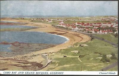 Vintage Postcard 1952 COBO BAY & GRAND ROCQUES GUERNSEY by J Salmon Ltd 18902