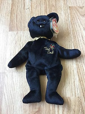 Ty Beanie Babies The End Bear 1999 Tags Retired L@@K