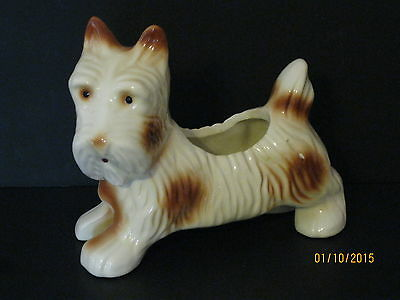 Vintage USA Art Pottery Scottie Dog Planter