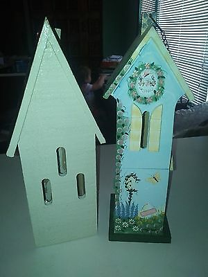 2 Wooden Butterfly Houses  One is from Kathy Hatch collection