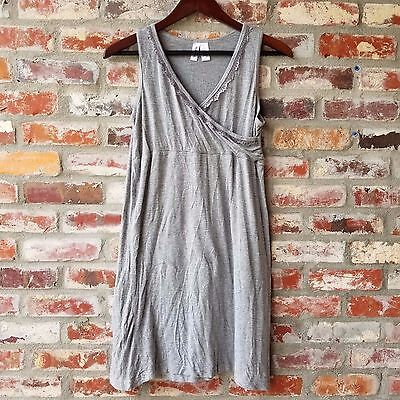 Nurture by Lamaze womens Small Maternity Nursing Full Coverage gray Sleep Gown