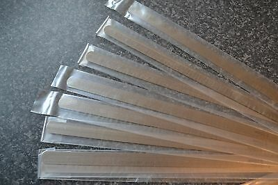 Ground shim steel feeler gauge stock 300mm long 12mm wide lots of thicknesses