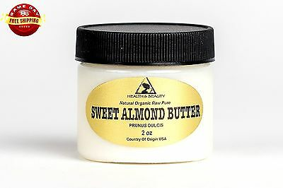 SWEET ALMOND BUTTER ORGANIC by H&B Oils Center COLD PRESSED 100% PURE 2 OZ