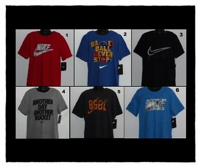 Boy's Nike T-Shirts Size Small 7-8 Medium 10-12 Large 14-16 Xl 18-20 Nwt