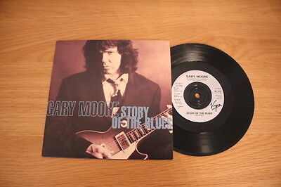 """Gary Moore - Story Of The Blues 7"""" 45-Virgin, VS 1412, 1992, Picture sleeve"""