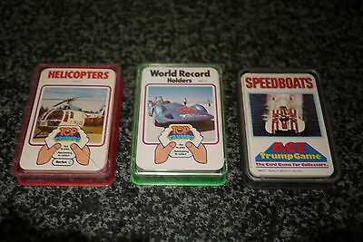 Top Trumps Helicopters and World Record Holders + Ace Trumps Speedboats Complete