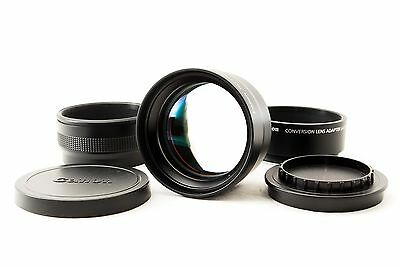 Canon Tele Converter TC-DC58D 1.4X + Lens Adapter LA-DC58K From Japan [Exc++!!]