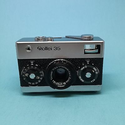 Rollei 35 Chrome (Germany) with Carl Zeiss Tessar 40mm f3.5. Perfect. Tested!