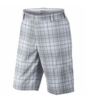 Nike Golf Dri-Fit Flat Front Check Shorts, Size 40 RRP £60